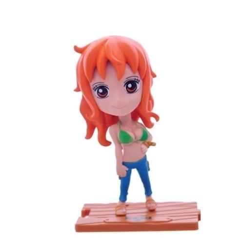 "Figura Nami PT One Piece Anime Base de Madera 4"" (copia)"