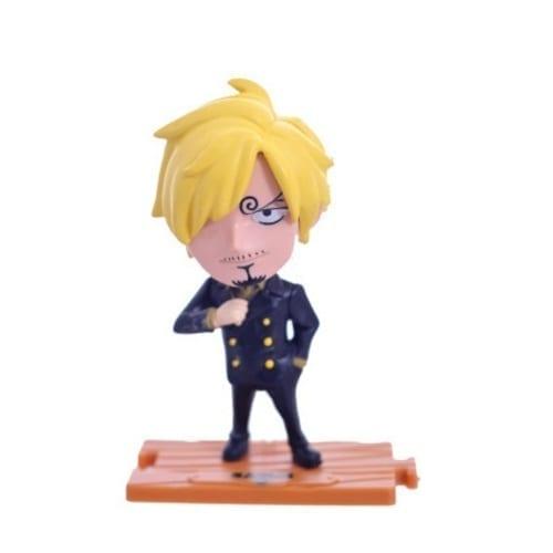 "Figura Sanji PT One Piece Anime Base de Madera 4"" (copia)"