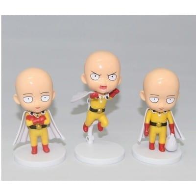 "Figura Saitama PT One Punch Man Anime Base Blanca 4"" (Copia)"