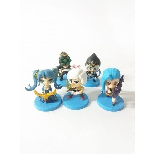 """Figura Personajes Varios Xinzida League of Legends Videojuegos Base Azul en Bolsa 2"""" (Copia)"""