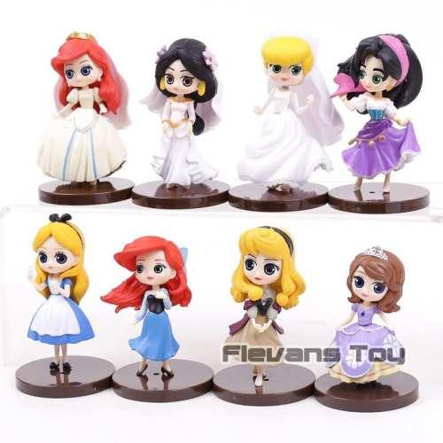"Figura Princesas Disney Q Posket Princesas Disney Mini Princesas Diseños Varios 3"" (Unidad)"