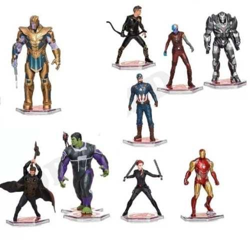 "Figura Avengers PT Avengers Endgame Marvel Base Negra Varios personajes 3"" (Copia)"