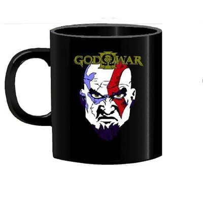 Mug Tallado Kratos Rostro TooGEEK God of War Videojuegos