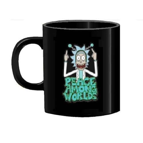 Mug Tallado TooGEEK Rick and Morty Animados Peace Among Worlds