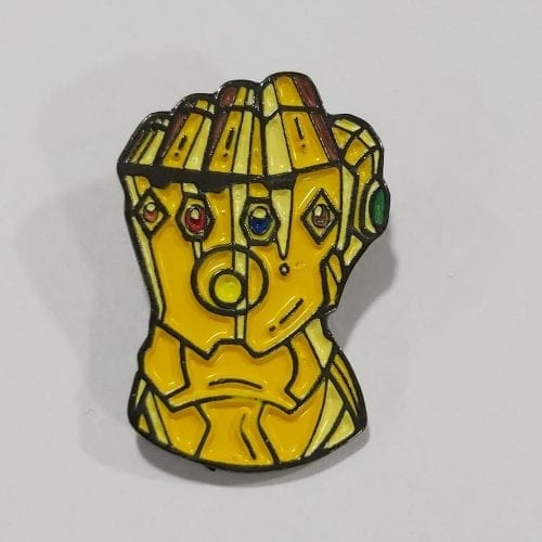 Pin Metálico Guantelete del infinito TooGEEK Avengers Infinity War Marvel (Color)