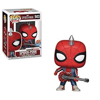 Figura Spider Punk Funko POP Spiderman Marvel PX Exclusive