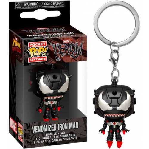 Llavero Iron Man Funko POP Iron Man Marvel Keychain Venomizado