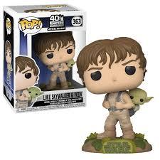 Figura Luke Skywalker Funko POP El Imperio Contraataca  Star Wars Entrenamiento Dagobah