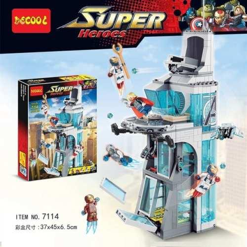 Set de Construcción Torre Stark Decool Super Heroes Iron Man Marvel