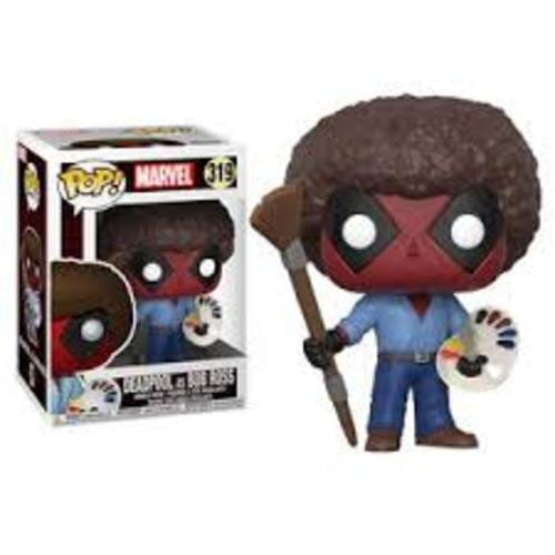 Figura Deadpol Funko POP Marvel como Bob Ross