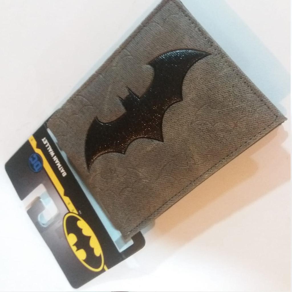 Billetera Batman PT Batman DC Comics en Tela Logo Negro