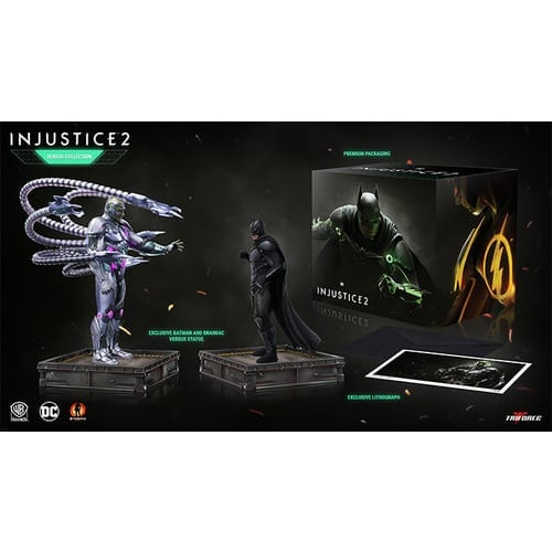Estatuilla Brainiac and Batman Triforce Injustice 2 DC Comics