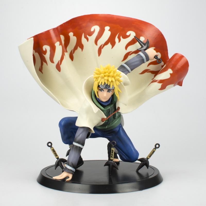 """Figura Minato Namikaze Banpresto Naruto Anime Base con Kunais y Traje de Cuarto Hokage 7"""" (Copia)"""