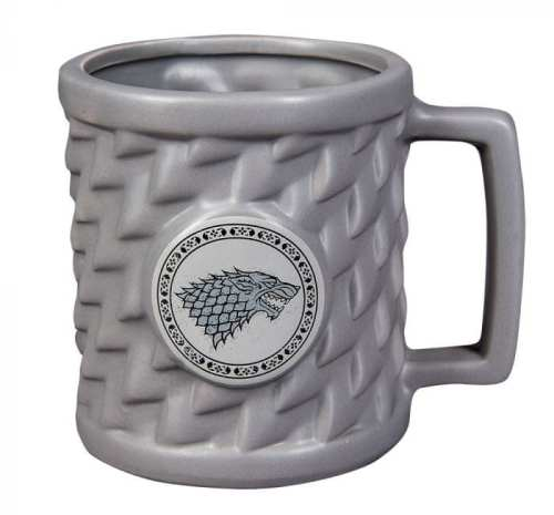 Mug Casa Stark Pyramid Game of Thrones Series Relieve