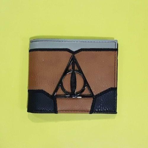 Billetera Reliquias de la Muerte PT Harry Potter Fantasía Logo Metálico
