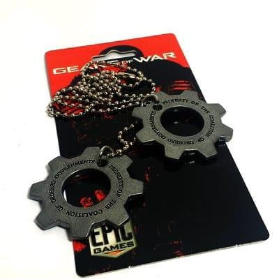 Collar Metálico Placas CGO PT Gears of War Videojuegos