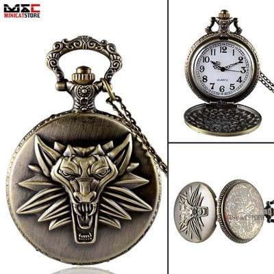 Reloj de Bolsillo Wolf Amulet PT The Witcher Videojuegos