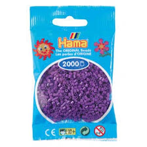 Cuencas Hamma Beads Pictograma Didácticos Tamaño Mini Paquete 2000 Piezas Color Purpura