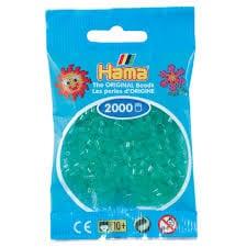 Cuencas Hamma Beads Pictograma Didácticos Tamaño Mini Paquete 2000 Piezas Color Verde Translucido