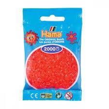 Cuencas Hamma Beads Pictograma Didácticos Tamaño Mini Paquete 2000 Piezas Color Rojo Neon