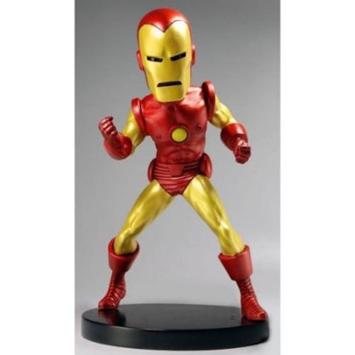 Estatuilla Iron Man NECA Head Knockers Marvel Clásico 8''