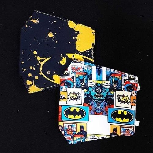 Tapabocas Batman Toogeek Batman DC Comics Set x2 Diseño logo Batman y Viñeta Comics