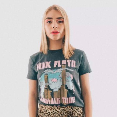 Camiseta Animals Tour 77 Rockgotá Pink Floyd Música Mujer (Talla S)