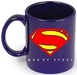Mug Tallado Superman DC Comic Man of Steel Color Azul