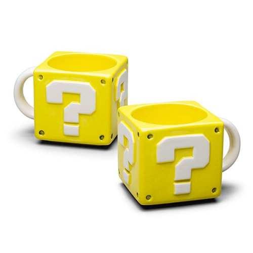 Mug Cerámico Bloque de Pregunta PT Mario Bros Videojuegos
