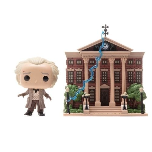 Figura Doc Emmet Brown with Clock Tower Funko POP Movie Moment Back to the Future Ciencia Ficción