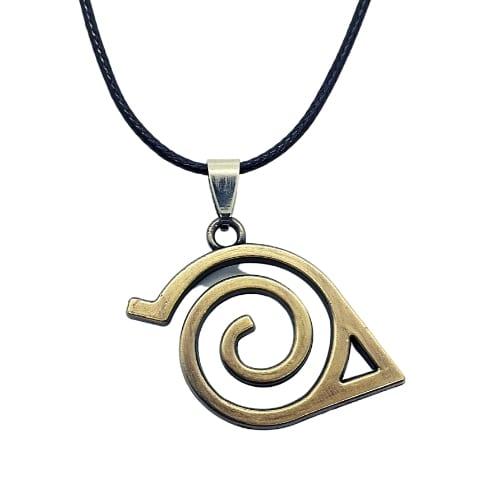 Collar Metálico Emblema Aldea de la Hoja Naruto Anime
