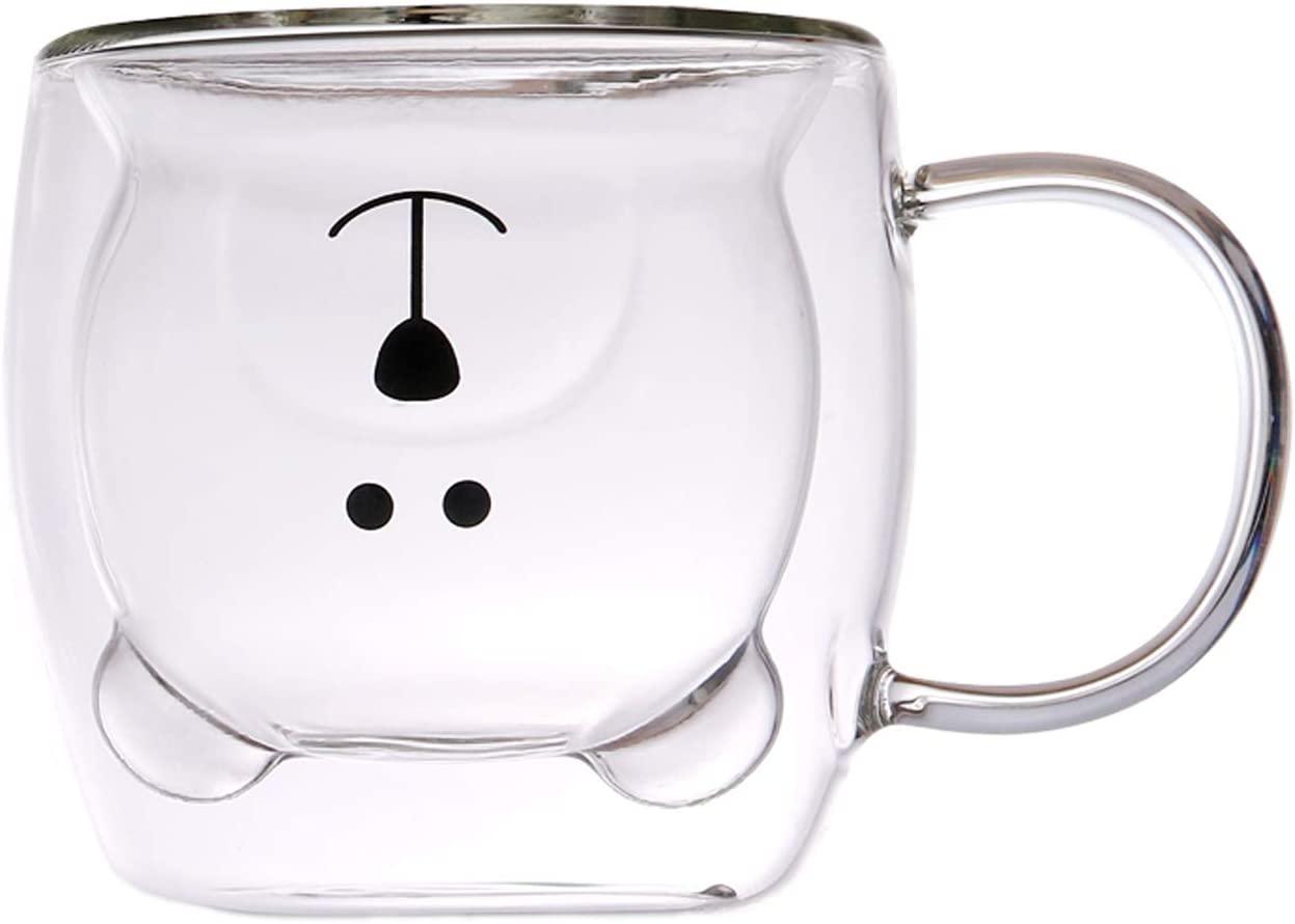 Mug en Vidrio Doble Pared Oso Iconos