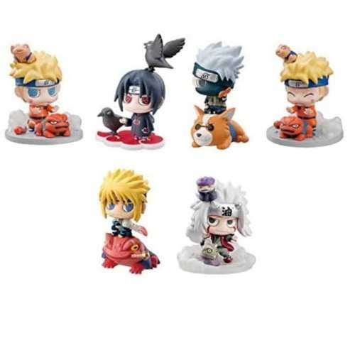 Set Figuras Varios Petit Chara Land Naruto Shipudden Anime X6 Unidades Pack 3
