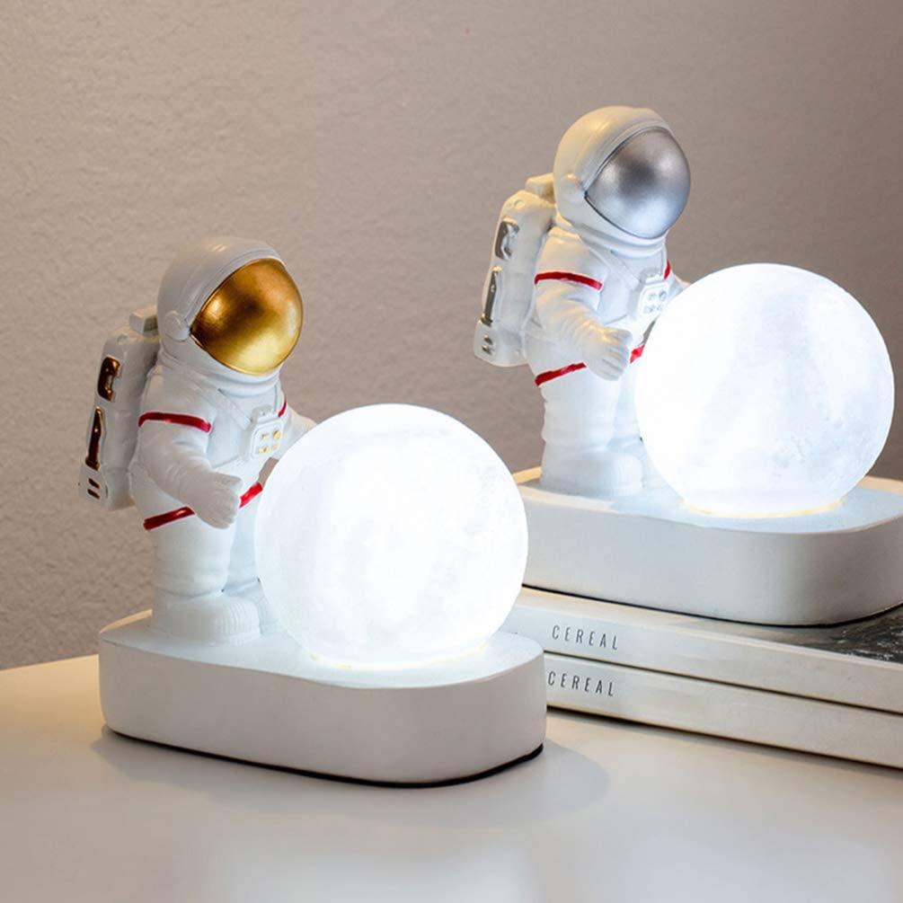 Lámpara Astronautas y Luna Nasa Iconos
