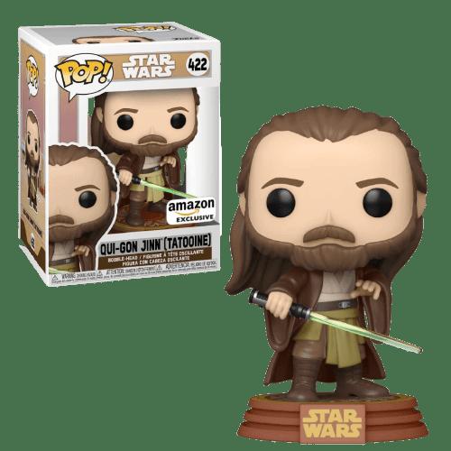 Figura Qui-Gon Jinn (Tatooine) Funko Pop Star Wars Amazon Exclusive
