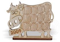 сувенир - календарь бык 2009
