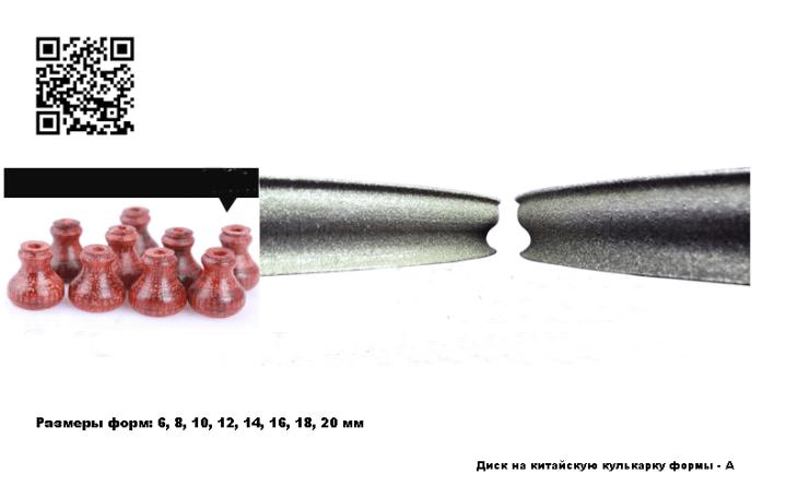 Круг на китайскую кулькарку формы А_размеры