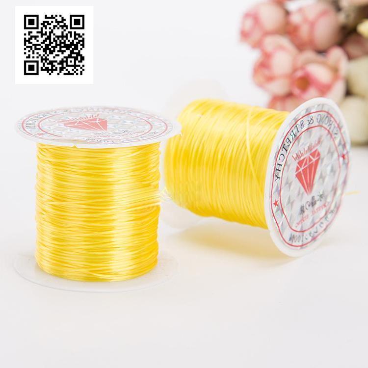 Эластичная нить для янтарных изделий - желтый цвет