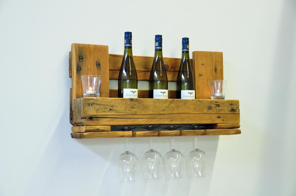 Weinregal aus Euro-Paletten