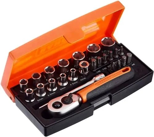 Picture of a Bahco SL25 Socket Set Review