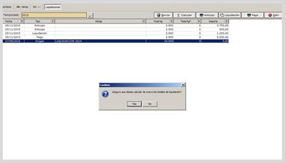 Gestión de Liquidaciones Software
