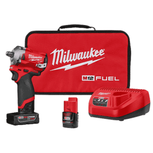 Milwaukee? 2555-22 M12 FUEL? Stubby Cordless Impact Wrench Kit, 1/2 in Drive, 3200 bpm, 250 ft-lb Torque, 4.9 in L