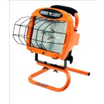 SOUTHWIRE L33 Corded Halogen Work Light with S-Stand, 120 VAC, 8000 Lumens, 500 W