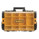 DEWALT ToughSystem® DWST08202 Polycarbonate 12-Compartment Tool Organizer, 21-3/4 in L x 13-1/8 in W x 4-1/2 in H, 44 lb Load Capacity