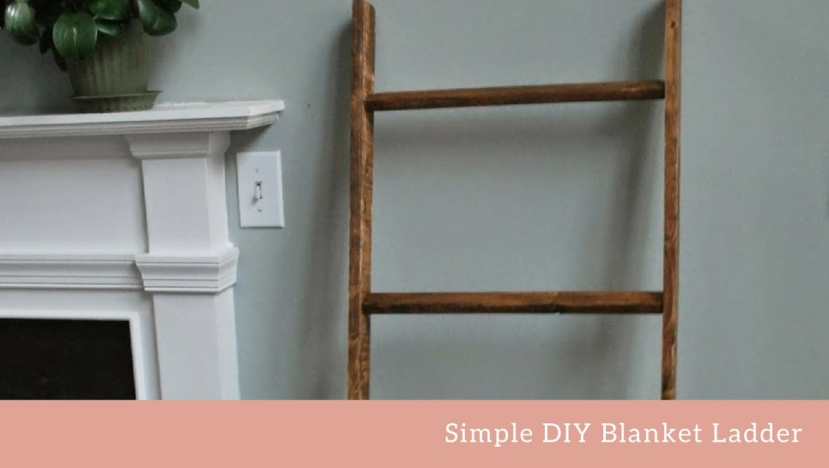 DIY Blanket Ladder for A Baby's Room