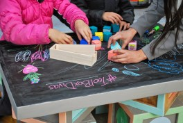 Alphabet Blocks Inspired Play Table by ToolBox Divas