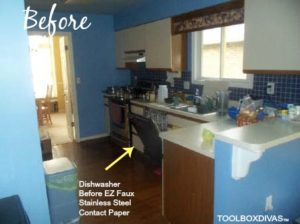 kitchen Before dishwasher