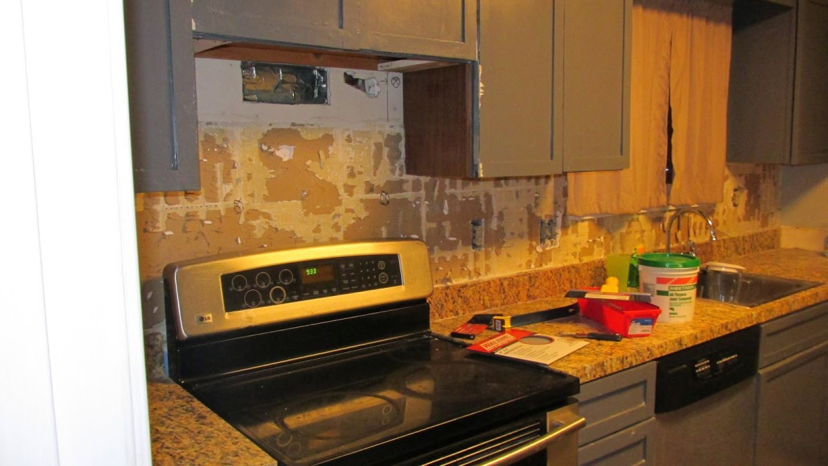 tile removal 101: remove the tile backsplash without damaging the