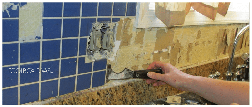 Charming Tile Removal 101: Remove The Tile Backsplash Without Damaging The Drywall