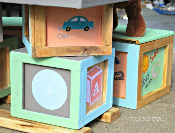 Alphabet Block Play Table and Seats